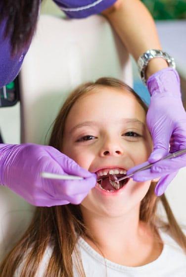 visita de los niños al dentista